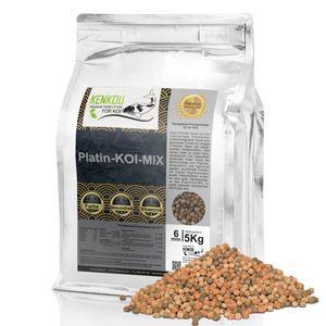 Koi Futter, Fischfutter KENKOU® PLATIN-KOI MIX 3mm | 2kg | Premium - Hochleistungs - Koifutter | leicht zu verdauen| Koi Pellets