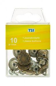 10 Jeansknöpfe / Größe: 17mm