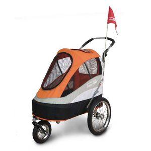 InnoPet® Sporty Trailer AT Pet Stroller Hundebuggy Hundewagen mit Luftreifen Hunde Fahrradanhänger Nylon orange bis 30kg