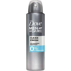Dove MEN+CARE CLEAN FRESH 0%, Männer, Deodorant, Spray-Deodorant, Spray, Universal, 150 ml