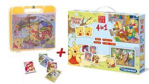 Winnie Puuh Große Spielesammlung (Memo, Domino, Puzzle, Würfel, UNO)