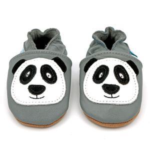 Dotty Fish Baby Leder Lauflernschuhe. Kinderschuhe. Grau Panda. 12-18 Monate (21 EU)
