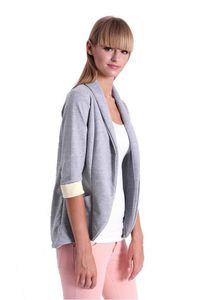 Damen Blazer Kurzjacke Jacke, Grau Meliert L/XL