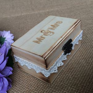 1 Stück Holz Ring Box