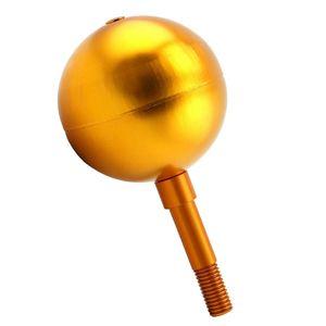 Fahnenmast Kugel Topper Ornament - Gold eloxiert Aluminium-Finish, 3-Zoll