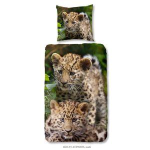 Good Morning Kinder-Bettwäsche-Set Leopards 135×200 cm