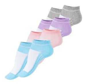 VCA® Sneaker Socken 8 Paar, mit Rippsohle Bunt 39-42