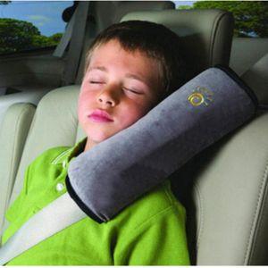 Kinder Sicherheitsgurt Autositz Gürtel Kissen Schulter Schutz Gurtpolster,Grau