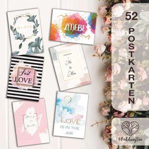 WeddingTree 52 Postkarten Hochzeit - Postkarten Set A6 - für 52 Wochen