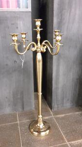 Kerzenständer Kerzenhalter gold 5 armig 78 cm Aluminium edel
