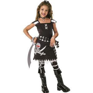 Kinder Kostüm Skelett Piratin Karneval Fasching Gr.5 bis 6 J.