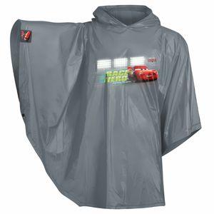 Baagl Kinder Regenponcho - Regencape mit Kapuze und reflektiven Elementen - Regenmantel für Jungen ab 130cm (Cars)