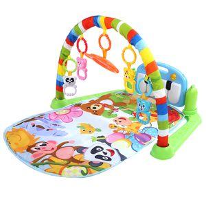 3in1 Spieldecke Baby Krabbeldecke Spielmatte Erlebnisdecke mit Spielbogen und Füßchenklavier