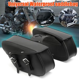 Universal Kunstleder Motorrad Satteltaschen Seitenkästen Gepäckträger Motorrad Packtaschen Gepäck
