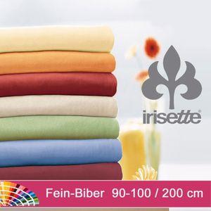 irisette Biber Laken l MERKUR l Winter-Spannbettuch l 100x200cm l Hellgrau