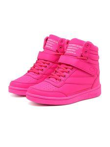 Damen Sneaker Freizeitschuhe erhöhen die Höhe in den Schuhen,Farbe: Rosarot,Größe:37