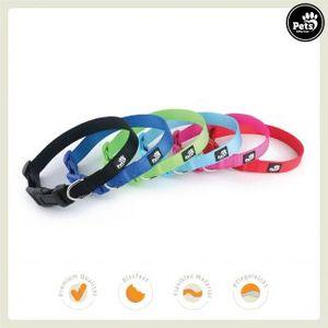 Pets&Partner® Hundehalsband aus Nylon, Halsband mit Kunststoffschnalle in verschiedenen Farben für große und kleine Hunde S 25-40 x 1,9 cm Rot