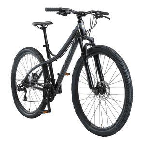 BIKESTAR Hardtail Aluminium Mountainbike 29 Zoll, 21 Gang Shimano Schaltung mit Scheibenbremse | 18 Zoll Rahmen MTB Erwachsenen- und Jugendfahrrad | Schwarz & Grau