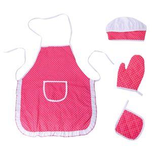 4x Küche Rollenspiel Spielzeug & Schürze Handschuhe Hut Hot Pad für Kinder Mädchen Geschenk