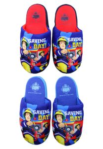 Feuerwehrmann Sam Kinder Hausschuhe Pantoffeln, Farbe:Blau, Größe:27/28