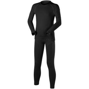 Falke Kinder Unterwäsche Thermo Suit Garnitur lang schwarz, Größe:134-140