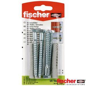 Fischer Universaldübel UX 10 x 60 SK 77857 Set inkl. Dübel + Schrauben