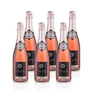 Crémant de Loire Rosé Brut – Sauvion -  Méthode Traditionelle, Paket mit:6 Flaschen
