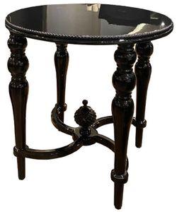 Casa Padrino Luxus Barock Beistelltisch Schwarz - Handgefertigter Massivholz Tisch - Barock Wohnzimmer Möbel