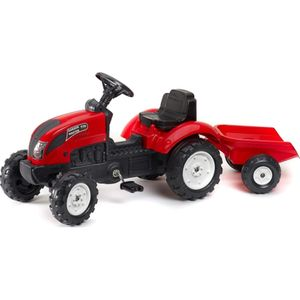 Falquet & Cie S.A.S. Tret-Traktor mit Hänger rot 2-5 J.