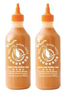 [ 2x 455ml ] FLYING GOOSE Sriracha Mayoo Sauce / Chilicreme würzig-scharf
