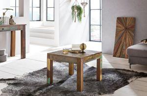 Couchtisch Massivholztisch SURAT 60x60cm Holz Mango Shabby-Chic