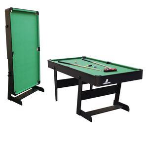 Cougar Hustle XL Billardtisch 6ft in Schwarz / Grün | Pooltisch klappbar inkl. Zubehör | Tischbillard für Kinder und Erwachsene | Indoor Pool / Billard Tisch