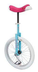 """Einrad QU-AX Luxus 20"""" blau/pink Alufelge, Reifen weiss"""