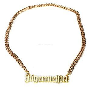 Jägermeister Goldkette Halskette aus Metall (kein echtes Gold)