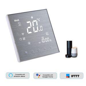 DECDEAL BTH-2000L-GALW WiFi Smart Thermostat fuer die Warmwasserbereitung Digitaler Temperaturregler Grosses LCD-Display Touch-Taste Sprachsteuerung Kompatibel mit Amazon Echo / Google-Startseite / Tmall Genie / IFTTT 5A AC 95-240V