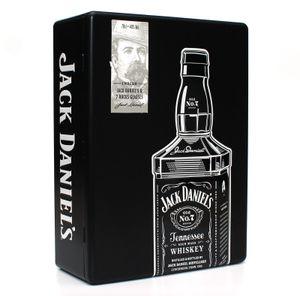 Geschenkset JACK DANIELS Old No.7 inkl. 2 Gläser/Tumbler in Tinbox Metallbox