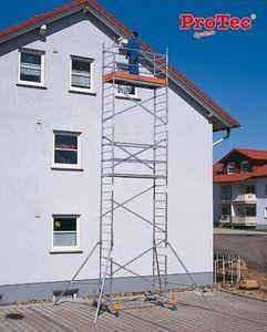 KRAUSE ProTec Alu FahrGerüst 2,90m bis 12,30m Arbeitshöhe, Arbeitshöhe:8.30 Meter