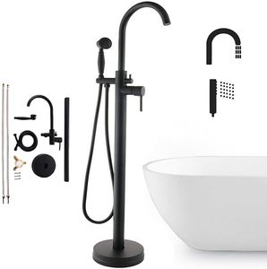 Freistehende Badewannenarmatur Duscharmaturset Standarmatur Wannenarmatur mit Handbrause