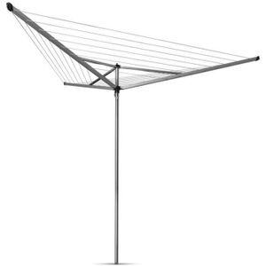BRABANTIA - 310645 - Essentieller Trockner - 30 Meter - Kunststoffdüse - Ø 35 mm - 3 Arme - Metallic-Grau