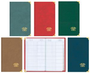 Stylex 49943 Telefon Adressbuch mit Register und Messing-Ecken- 5 Farbvarianten - keine Farbwahl möglich!