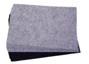 Platzdecken 12er Set - hellgrau / schwarz - Platzset 45x30 cm