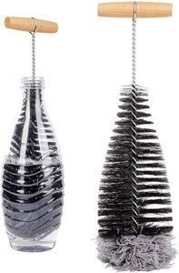 ONVAYA® Flaschenbürste   ideal für SodaStream-Flaschen   Lange und dünne Bürste zur Reinigung von Flaschen   Flaschenreiniger-Bürste   Reinigungsbürste   mit Wollkopf für schonende Reinigung