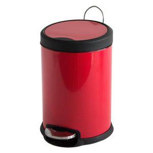 MSV Abfalleimer 20 Liter Rot mit Absenkautomatik