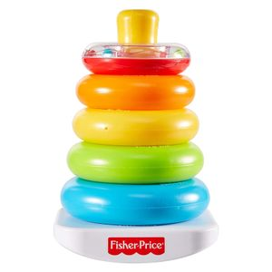 Farbring Pyramide, klassisches Stapelspielzeug mit Ringen für Babys und Kleinkinder ab 6 Monaten