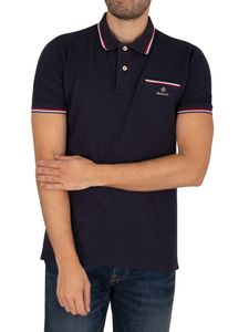 Gant men Polo-Shirt, Farbe:433 EVENING BLU, Größe:L