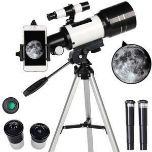 F30070M 70 mm Apertur 300 mm Astronomischer Refraktor Astronomisches Teleskop Stativfinder-Zielfernrohr - Tragbares Reiseteleskop