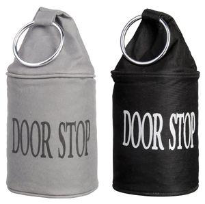 5 Stück Esschert Design Türstopper, Türpuffer mit Ring, in schwarz oder grau, sortiert, ca. 14 cm x 14 cm x 34 cm
