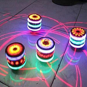 2 Stk Magischer Kreisel Gyro Spinner Laser LED Musik Blitzlicht Kinderspielzeug