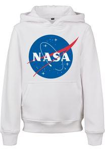 Mister Tee MTK062  Kids NASA Insignia Hoody, Größe:146/152, Farbe:White