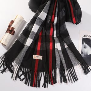 100 % Kaschmir  Damen Herren Schal  Wolle Halstuch Strickschal  Loop 70*200cm Outdoor Winter schwarz weiss rot schwarz
